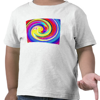 Toddlers whiteT-shirt with bright Abstract Pattern