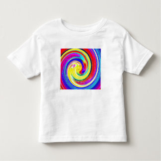 Toddlers whiteT-shirt with bright Abstract Pattern Tee Shirts