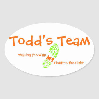 Todd's Team Oval Sticker