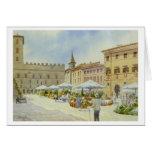 Todi Flower Market Greeting Card