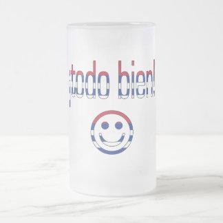 ¡Todo Bien! Cuba Flag Colors Frosted Glass Mug