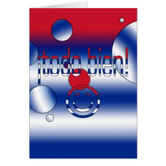¡Todo Bien! Cuba Flag Colors Pop Art Note Card