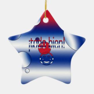 ¡Todo Bien Cuba Flag Colors Pop Art Christmas Ornament