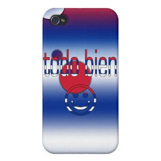 ¡Todo Bien Cuba Flag Colors Pop Art iPhone 4 Cover