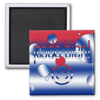 ¡Todo Bien! Cuba Flag Colors Pop Art Magnet