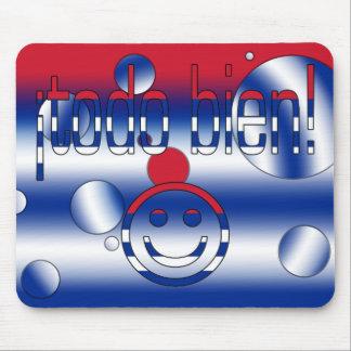 ¡Todo Bien! Cuba Flag Colors Pop Art Mouse Pad