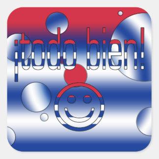¡Todo Bien! Cuba Flag Colors Pop Art Square Sticker