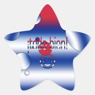 ¡Todo Bien! Cuba Flag Colors Pop Art Star Sticker