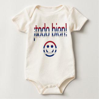 ¡Todo Bien! Cuba Flag Colors Baby Bodysuit