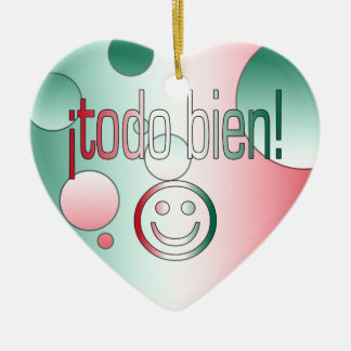 ¡Todo Bien! Mexico Flag Colors Pop Art Christmas Ornament