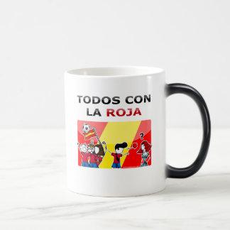 ¡Todos con la roja! Morphing Mug