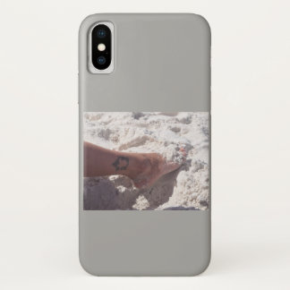 Toes in the sand iPhone x case