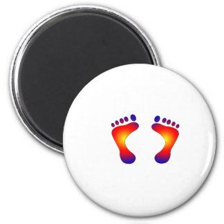 toes 6 cm round magnet