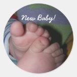 toes, New Baby! Round Sticker