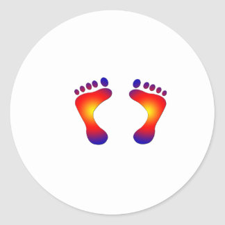 toes classic round sticker