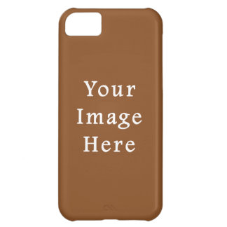 Toffee Brown Color Trend Blank Template iPhone 5C Cases
