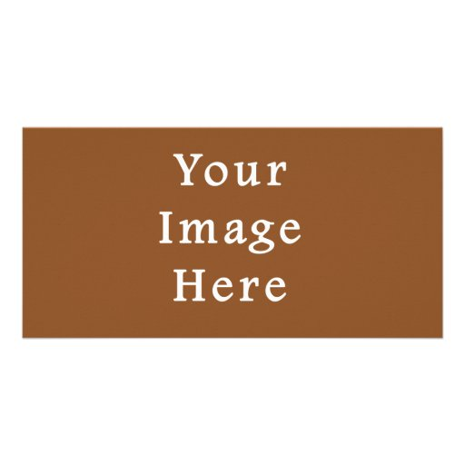 Toffee Brown Color Trend Blank Template Photo Card