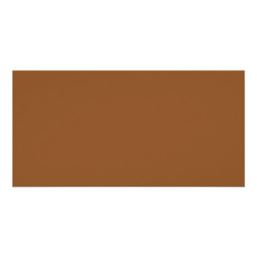 Toffee Brown Color Trend Blank Template Picture Card