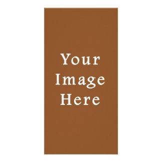 Toffee Brown Color Trend Blank Template Photo Card Template