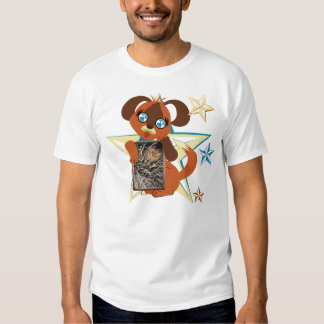 Toffee Toon Puppy Stars Frame Tees