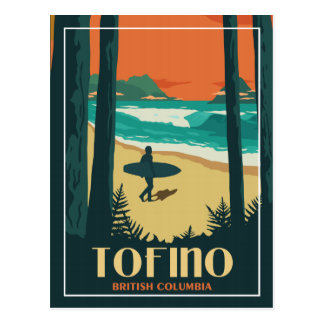 Tofino BC - Vintage Travel Postcard