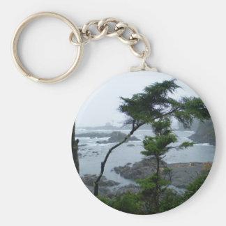 Tofino Rain Basic Round Button Key Ring