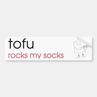Tofu Rocks My Socks - Bumper Sticker