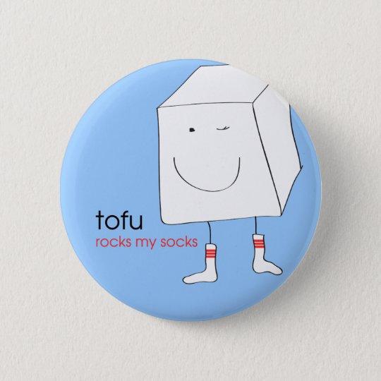 TofuRocksbluebackground.ai 6 Cm Round Badge