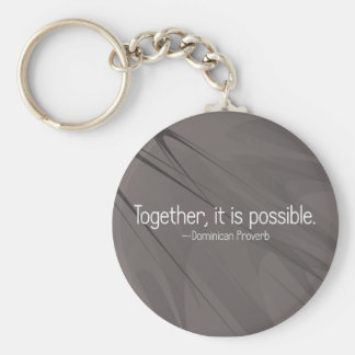 Together anything is possible (2) basic round button key ring