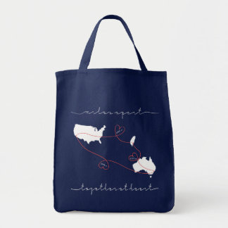 together at heart tote bag