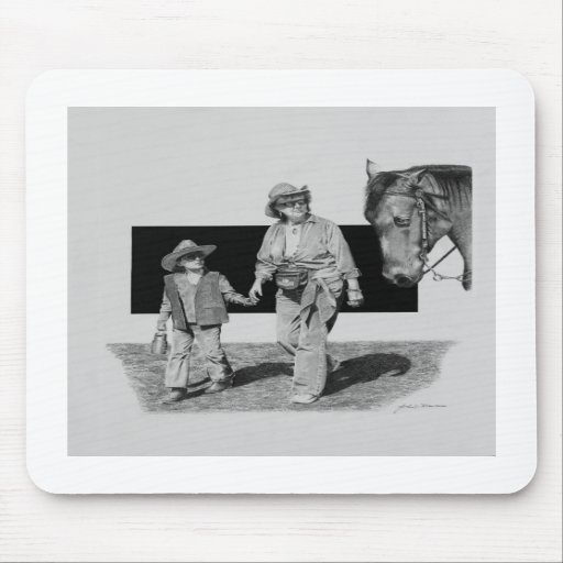 Together at the Rodeo Mousepads