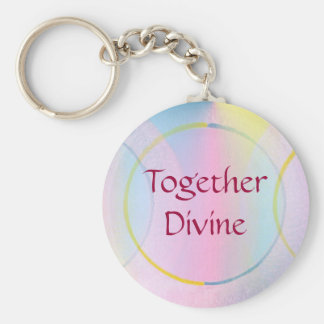 Together Divine Positive Affirmation Basic Round Button Key Ring