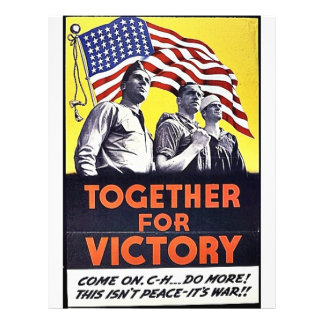 Together For Victory 21.5 Cm X 28 Cm Flyer