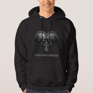 Together Forever Black Hoodie