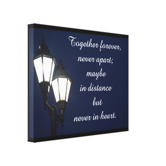 Together forever  - canvas art print stretched canvas print