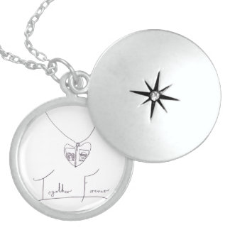 Together Forever, daughters & dad Sterling Silver Necklace