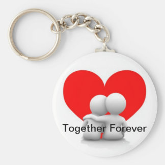 Together Forever Heart Keyring
