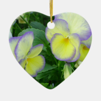 Together Forever Lemon Yellow Pansy Ornament