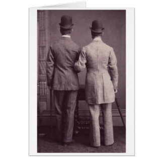 Together Forever Male Men Gay Greeting Card Vintag