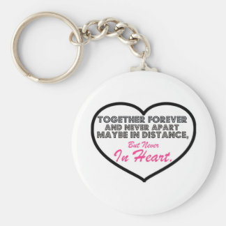 Together Forever & Never apart....... Basic Round Button Key Ring