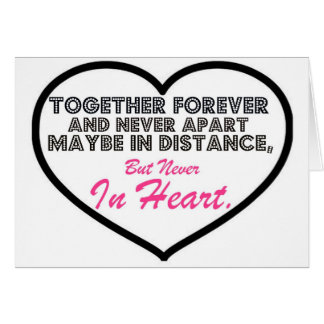 Together Forever Never apart Greeting Card