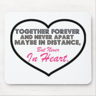 Together Forever Never apart Mouse Pad