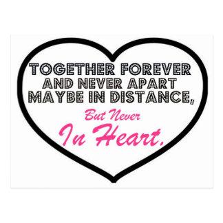 Together Forever & Never apart....... Postcard