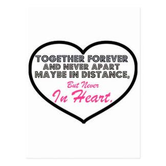 Together Forever Never apart Postcards