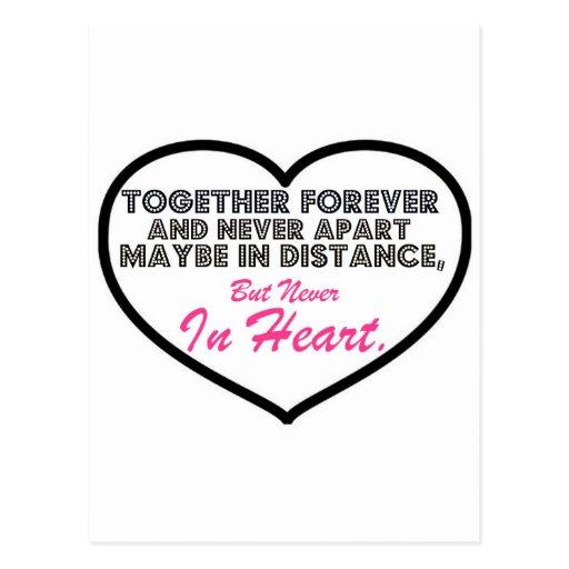 Together Forever & Never apart....... Postcards