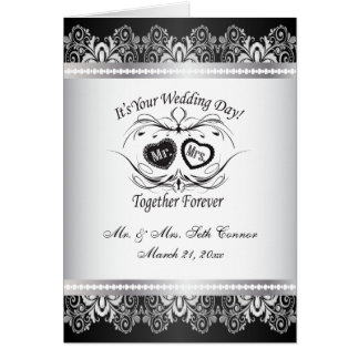 Together Forever Silver Wedding Greeting Card