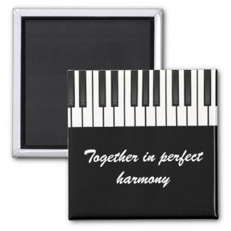 Together in perfect harmony square magnet