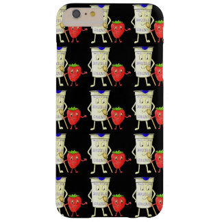 Together like Strawberry & Cream Funny Art Slogan Barely There iPhone 6 Plus Case