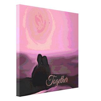 together pink canvas prints