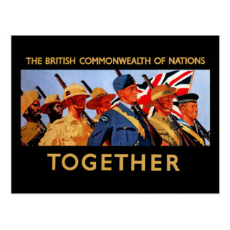 Together ~ The British Commonwealth of Nations Postcard